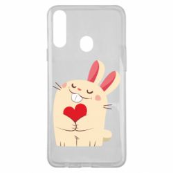 Чехол для Samsung A20s Rabbit with heart