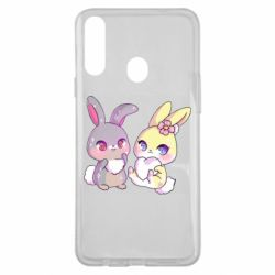 Чохол для Samsung A20s Rabbits In Love