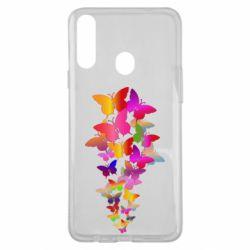 Чохол для Samsung A20s Rainbow butterflies