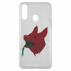 Чехол для Samsung A20s Red zombie dog