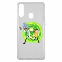 Чохол для Samsung A20s Rick and Morty art