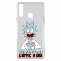 Чохол для Samsung A20s Rick and Morty fack and love you