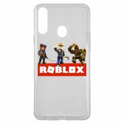 Чехол для Samsung A20s Roblox Heroes