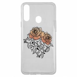 Чохол для Samsung A20s Roses with patterns