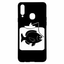 Чехол для Samsung A20s Рыба на крючке