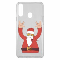 Чохол для Samsung A20s Santa Claus with a tube