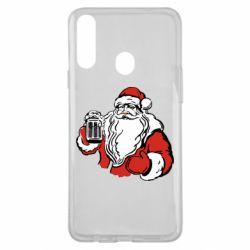 Чехол для Samsung A20s Santa Claus with beer
