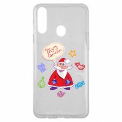 Чехол для Samsung A20s Santa says merry christmas