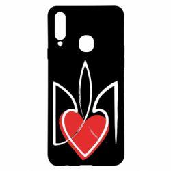 Чехол для Samsung A20s Серце з гербом