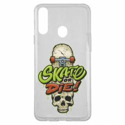 Чохол для Samsung A20s Skate or die skull