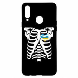 Чохол для Samsung A20s Скелет з серцем Україна