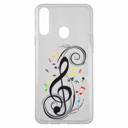 Чехол для Samsung A20s Скрипичный ключ