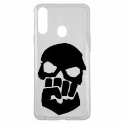 Чехол для Samsung A20s Skull and Fist