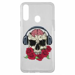 Чохол для Samsung A20s Skull and roses