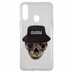 Чехол для Samsung A20s Skull in hat and text