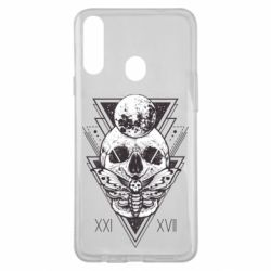 Чохол для Samsung A20s Skull with insect