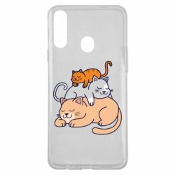 Чехол для Samsung A20s Sleeping cats