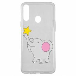 Чохол для Samsung A20s Слон із зірочкою