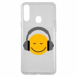 Чехол для Samsung A20s Smile in the headphones