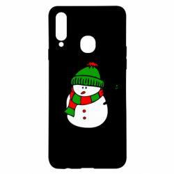 Чехол для Samsung A20s Снеговик