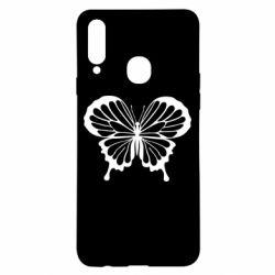 Чехол для Samsung A20s Soft butterfly