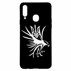 Чохол для Samsung A20s Сокіл та герб України