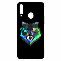 Чехол для Samsung A20s Сolorful wolf