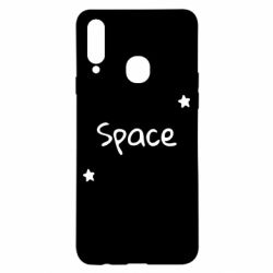 Чохол для Samsung A20s Space: Letters and Stars Print