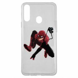 Чехол для Samsung A20s Spiderman flat vector