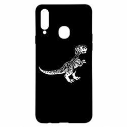 Чохол для Samsung A20s Spotted baby dinosaur