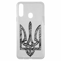 Чехол для Samsung A20s Striped coat of arms