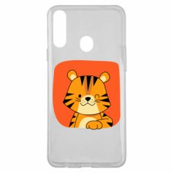 Чехол для Samsung A20s Striped tiger with smile