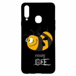 Чехол для Samsung A20s Сумасшедшая пчелка