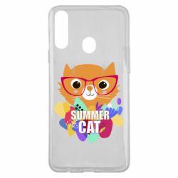 Чехол для Samsung A20s Summer cat