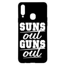 Чехол для Samsung A20s Suns out guns out