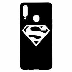 Чехол для Samsung A20s Superman одноцветный