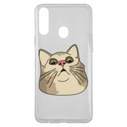 Чехол для Samsung A20s Surprised cat