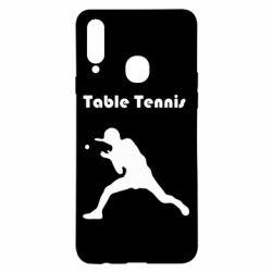 Чохол для Samsung A20s Table Tennis Logo
