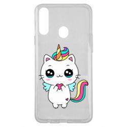 Чохол для Samsung A20s The cat is unicorn