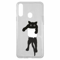 Чехол для Samsung A20s The cat tore the pocket