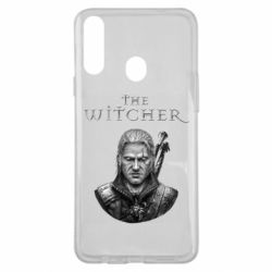 Чехол для Samsung A20s The witcher art black and gray