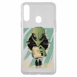 Чохол для Samsung A20s Alien with a can