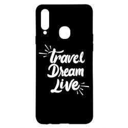 Чехол для Samsung A20s Travel Dream Live