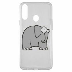 Чехол для Samsung A20s удивленный слон