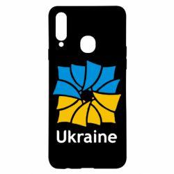Чехол для Samsung A20s Ukraine квадратний прапор