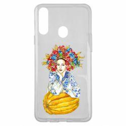 Чохол для Samsung A20s Українка в вінку і вишиванці