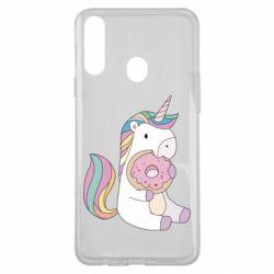 Чехол для Samsung A20s Unicorn and cake