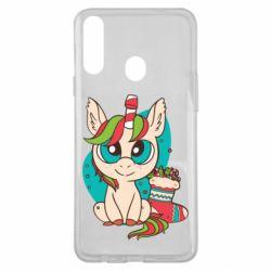 Чехол для Samsung A20s Unicorn Christmas