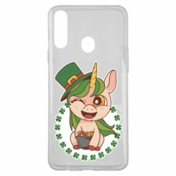 Чехол для Samsung A20s Unicorn patrick day