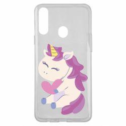 Чехол для Samsung A20s Unicorn with love
